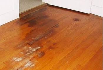 木地板发霉